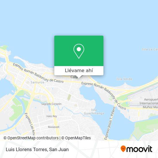 Mapa de Residencial Luis Llorens Torres
