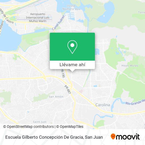 Mapa de Escuela Gilberto Concepción De Gracia