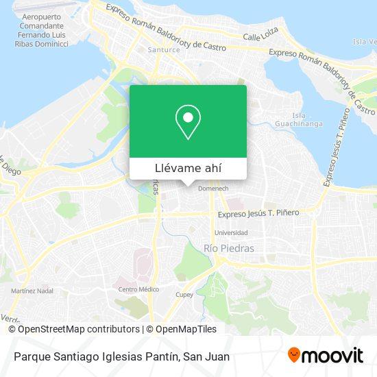 Mapa de Parque Santiago Iglesias Pantín