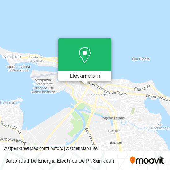 Mapa de Autoridad De Energía Eléctrica De Pr