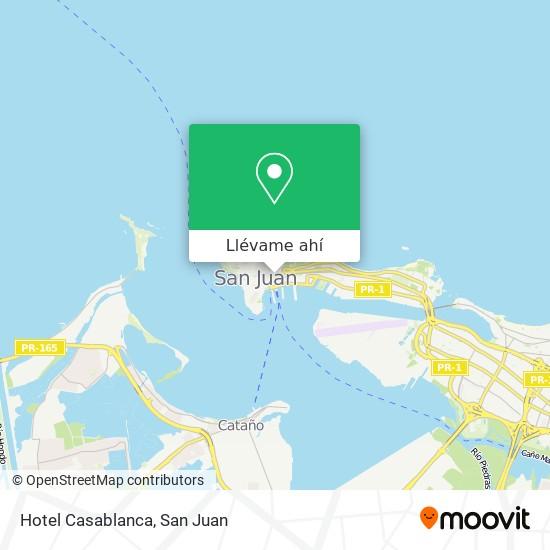 Mapa de Hotel Casablanca