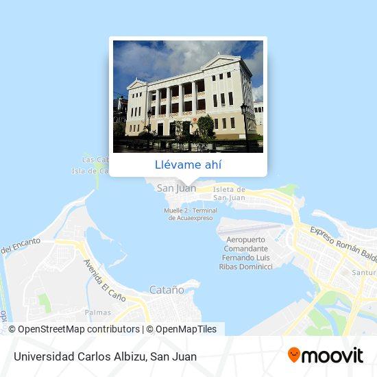 Mapa de Universidad Carlos Albizu