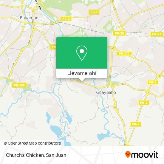 Mapa de Church's Chicken