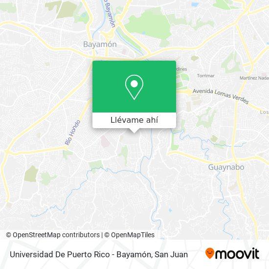 Mapa de Universidad De Puerto Rico En Bayamón