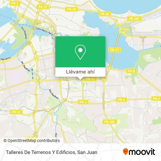 Mapa de Talleres De Terrenos Y Edificios