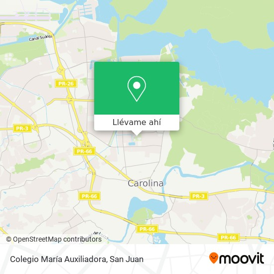 Mapa de Colegio María Auxiliadora