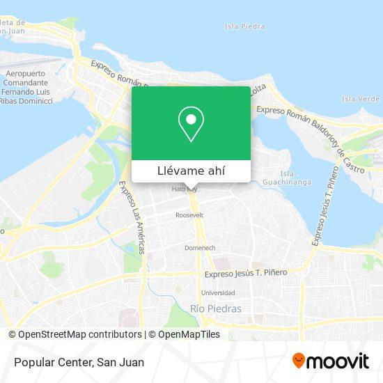 Mapa de Popular Center