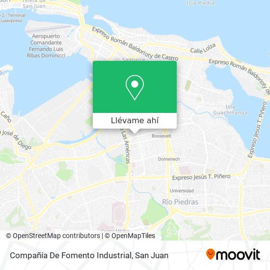 Mapa de Compañía De Fomento Industrial