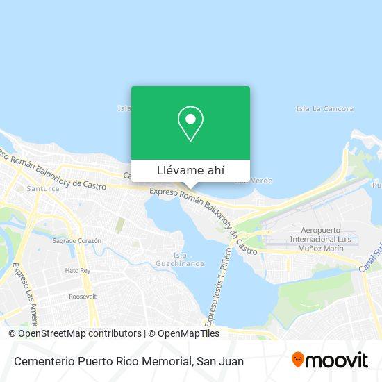 Mapa de Cementerio Puerto Rico Memorial