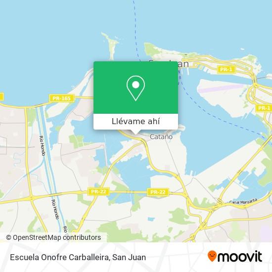 Mapa de Escuela Onofre Carballeira