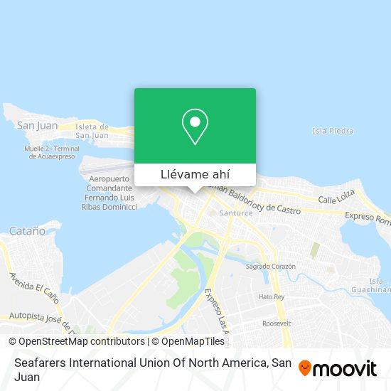 Mapa de Seafarers International Union Of North America