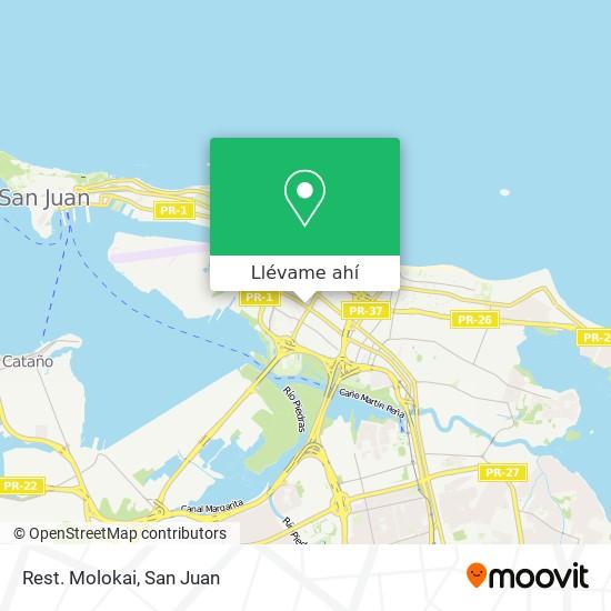 Mapa de Rest. Molokai