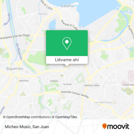Mapa de Micheo Music