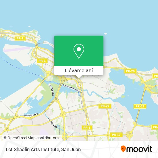 Mapa de Lct Shaolin Arts Institute
