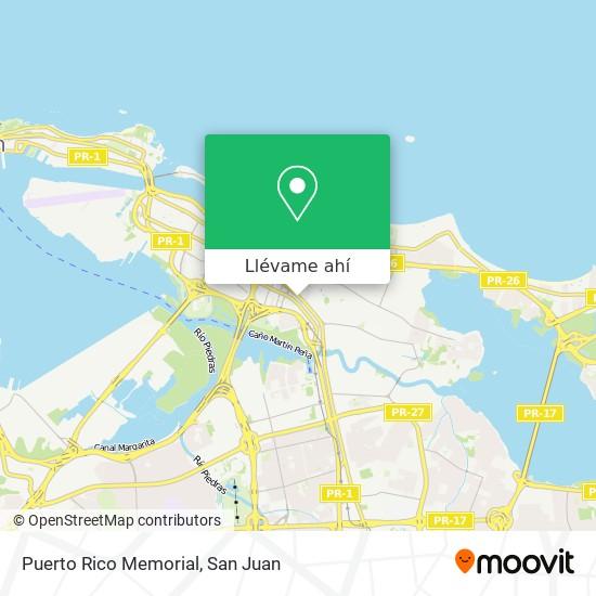 Mapa de Puerto Rico Memorial