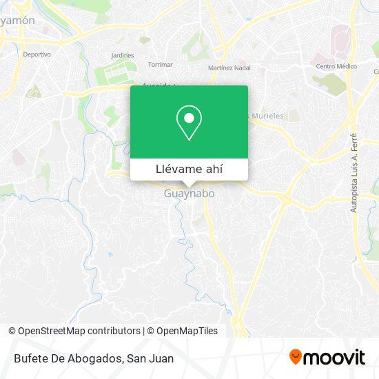 Mapa de Bufete De Abogados