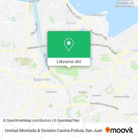 Mapa de Unidad Montada & División Canina Policía