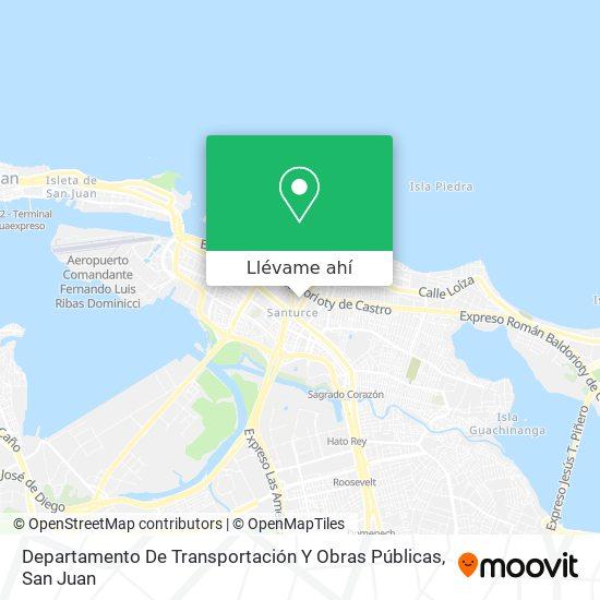 Mapa de Departamento De Transportación Y Obras Públicas
