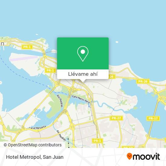 Mapa de Hotel Metropol