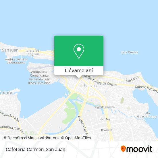 Mapa de Cafetería Carmen