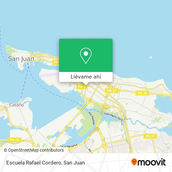 Mapa de Escuela Rafael Cordero