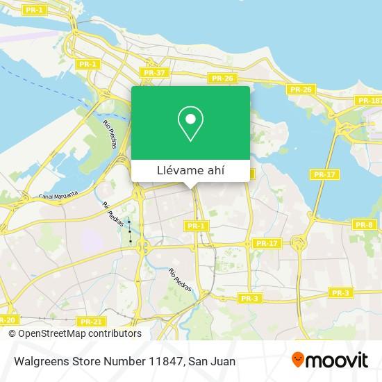 Mapa de Walgreens Store Number 11847