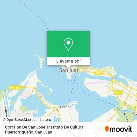 Mapa de Corralon De San José, Instituto De Cultura Puertorriqueño