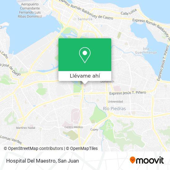 Mapa de Hospital Del Maestro