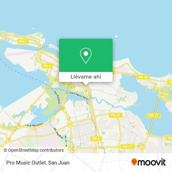 Mapa de Pro Music Outlet