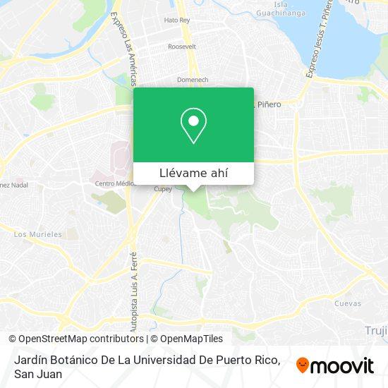 Mapa de Jardín Botánico De La Universidad De Puerto Rico