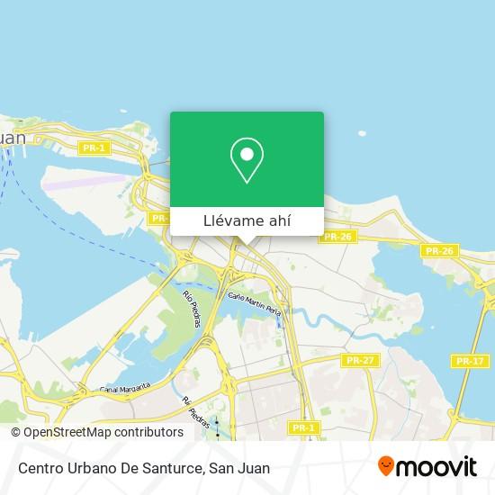 Mapa de Centro Urbano De Santurce