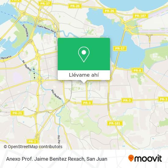 Mapa de Anexo Jaime Benítez Rexach