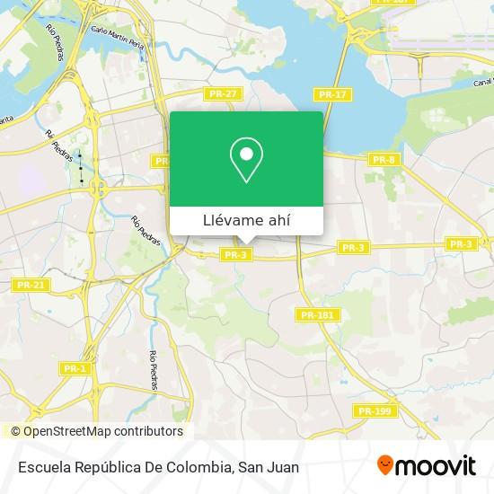 Mapa de Escuela República De Colombia