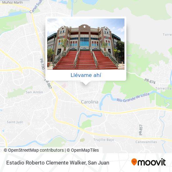 Mapa de Estadio Roberto Clemente Walker