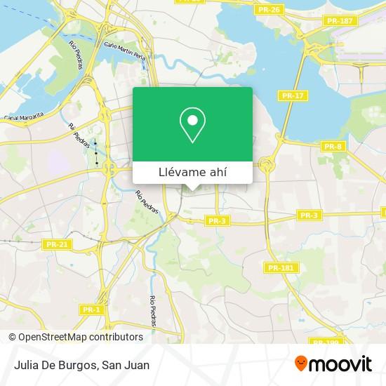 Mapa de Julia De Burgos
