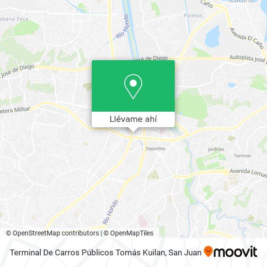 Mapa de Terminal De Carros Públicos Tomás Kuilan