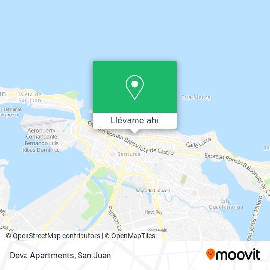 Mapa de Deva Apartments