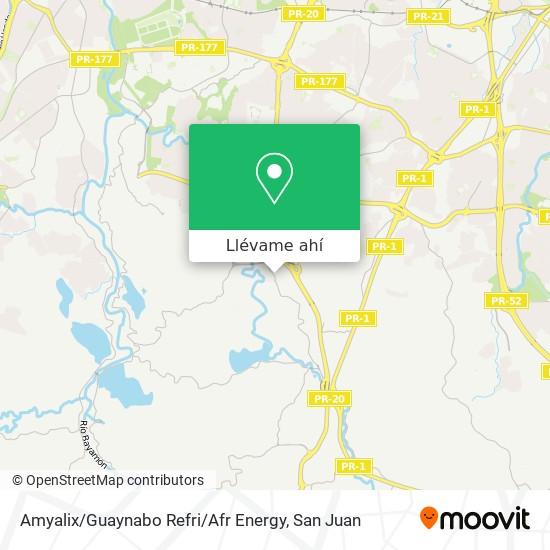 Mapa de Amyalix / Guaynabo Refri / Afr Energy