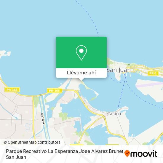 Mapa de Parque Recreativo La Esperanza Jose Alvarez Brunet