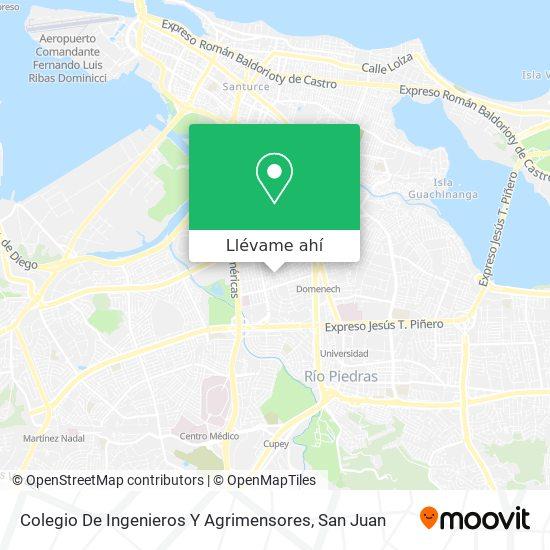 Mapa de Colegio De Ingenieros Y Agrimensores