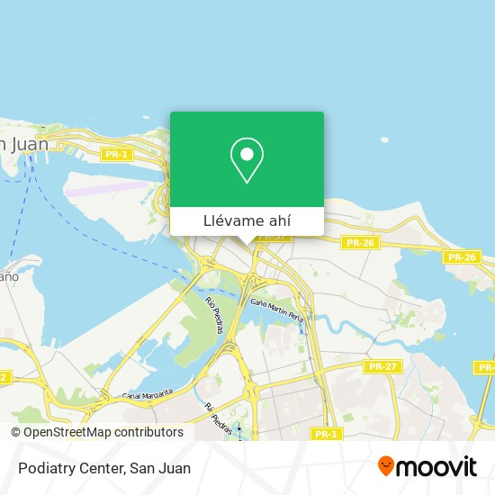 Mapa de Podiatry Center