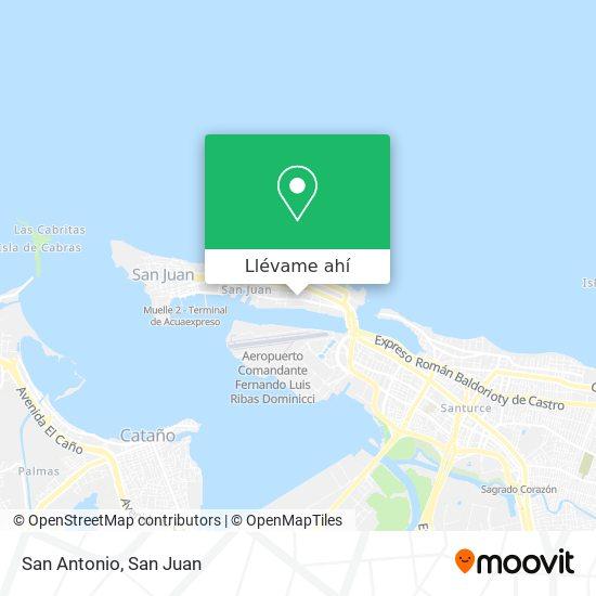 Mapa de Residencial San Antonio