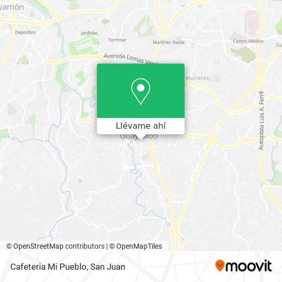 Mapa de Cafeteria Mi Pueblo