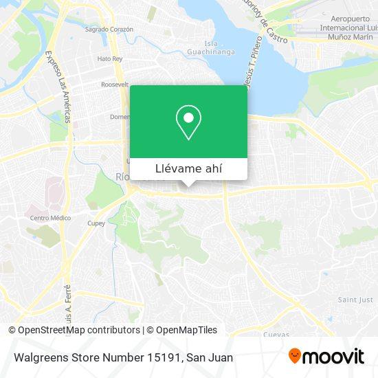 Mapa de Walgreens Store Number 15191