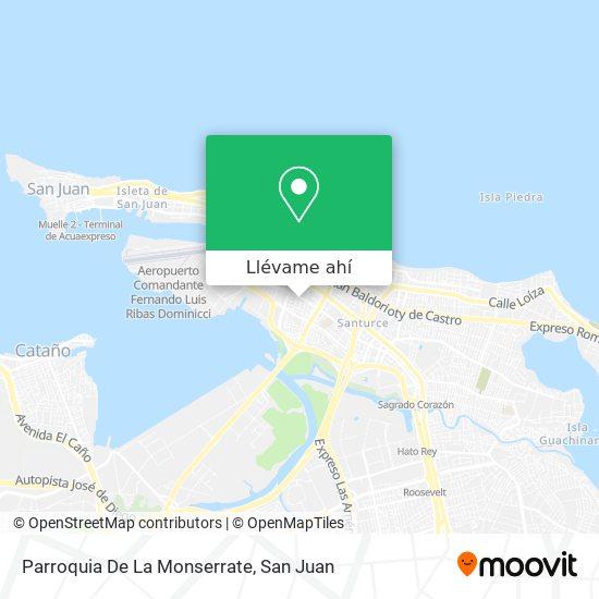 Mapa de Parroquia De La Monserrate