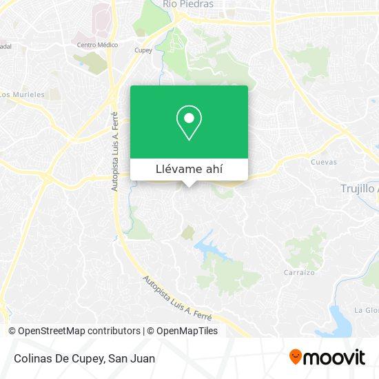 Mapa de Colinas De Cupey