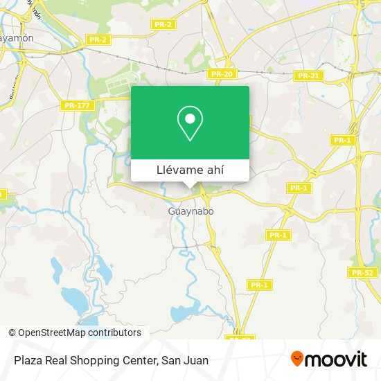 Mapa de Plaza Real Shopping Center