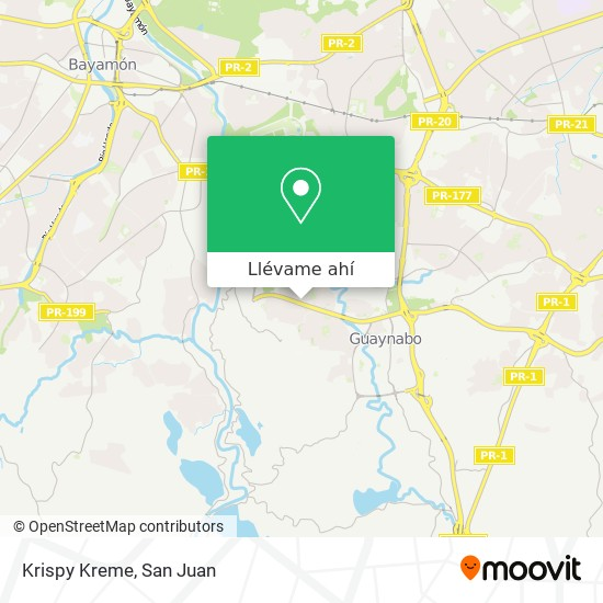 Mapa de Krispy Kreme