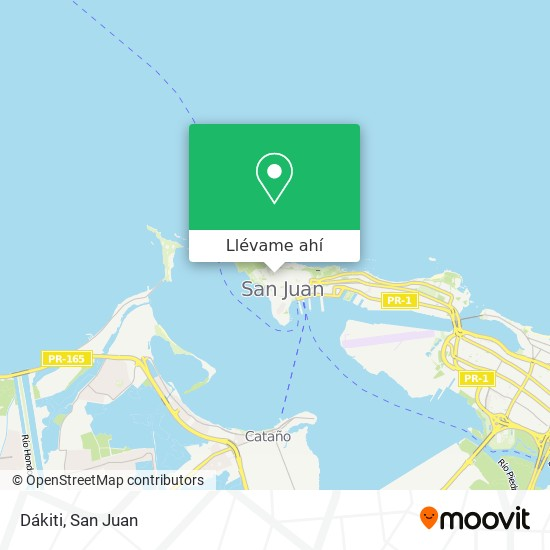 Mapa de Dakiti