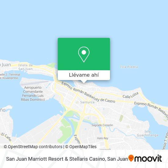 Mapa de San Juan Marriott Resort & Stellaris Casino
